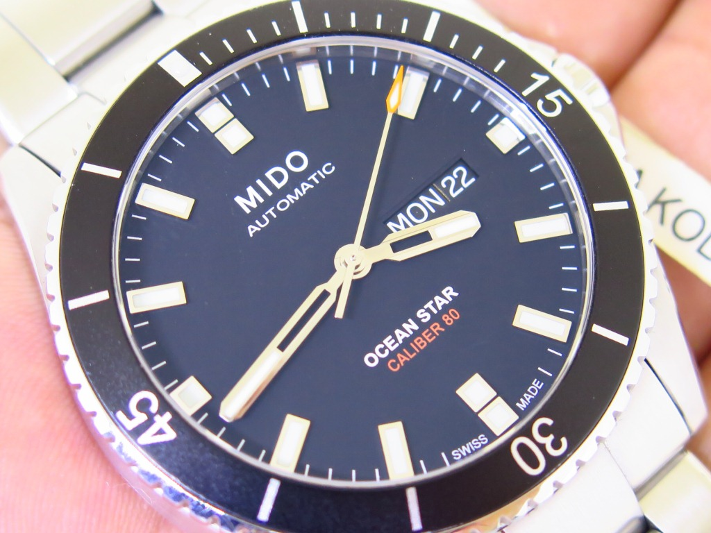 MIDO OCEAN STAR CALIBER 80 BLACK DIAL - AUTOMATIC