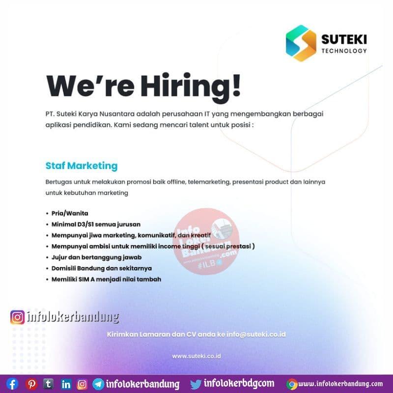 Lowongan Kerja PT. Suteki Karya Nusantara Bandung Juli 2021