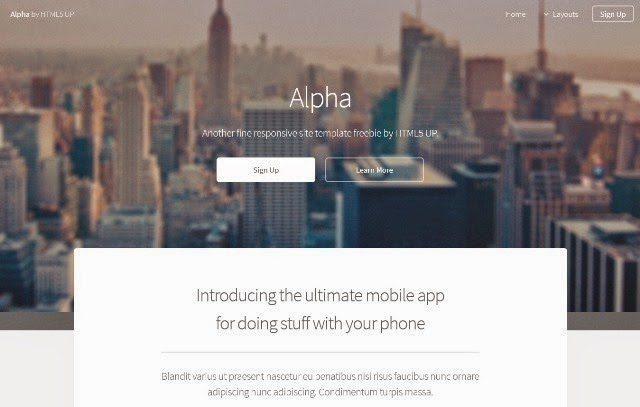 Alpha - Free Html5 Template