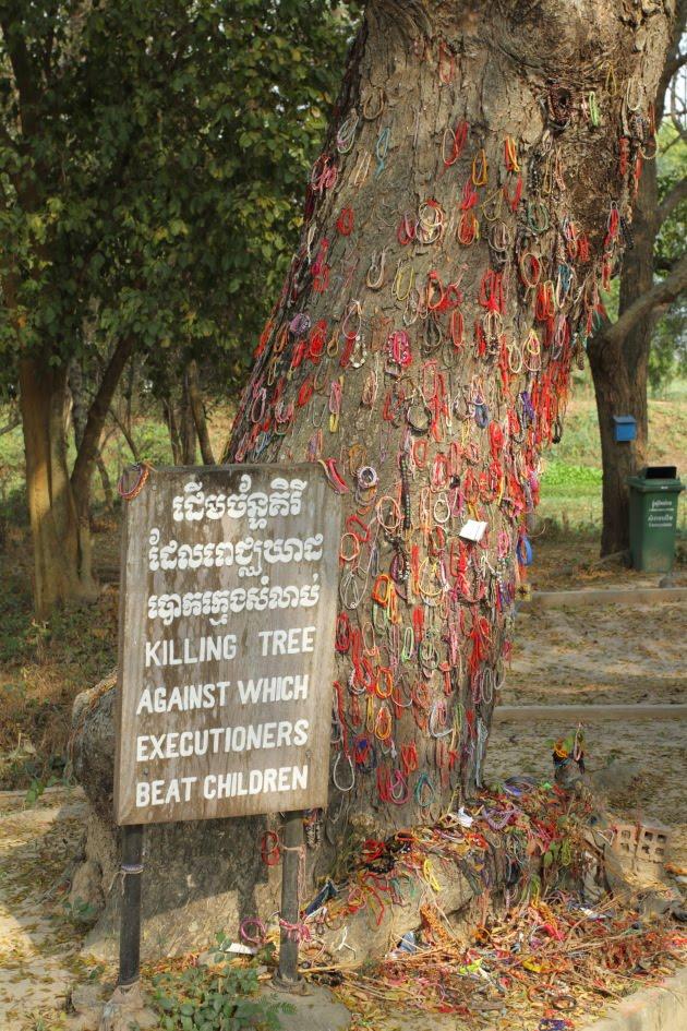 Khmer Rouge beat children to death here, Phnom Penh, Cambodia