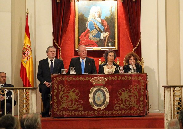 King Juan Carlos I and Queen Sofia. on the occasion of his 80th birthday