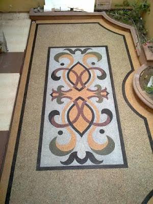 Desain Motif Batu Sikat Floral/Ornament