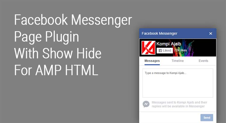 Facebook Messenger Page Plugin With Show Hide For AMP HTML