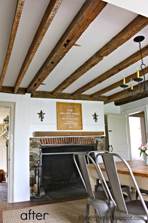 saltbox farmhouse dining room after
