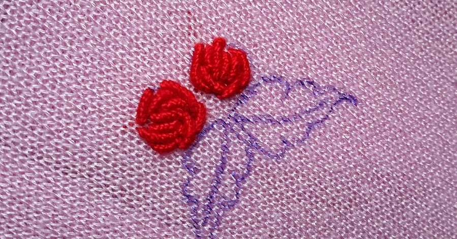 Anything creative hand embroidery tutorial leaf stitch