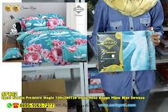 Sprei Kendra Premiere Single 120x200T20 Swan Rose Bunga Hijau Mint Dewasa