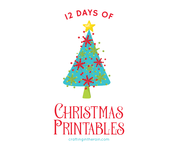 see the rest of the 12 days of christmas printables here - 12 Days Of Christmas For Neighbors