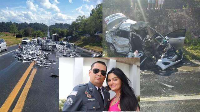 Vereador Cabo Porto, esposa e filho morrem em acidente na BR-101