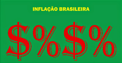 A imagem mostra os caracteres da inflação crescente no país.