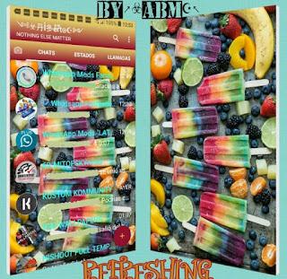 Orange Ice Cream Theme For YOWhatsApp & Fouad WhatsApp By ALBERTO