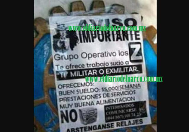 Los Zetas ofrecen trabajo a militares y ex militares y prometen buena alimentación sin sopa Maruchan
