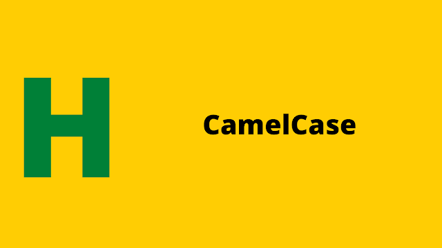 HackerRank CamelCase problem solution