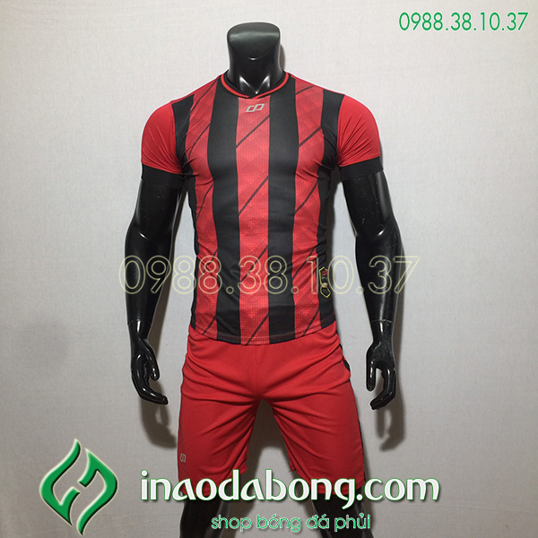 Áo bóng đá kp logo Cp HuB màu đỏ