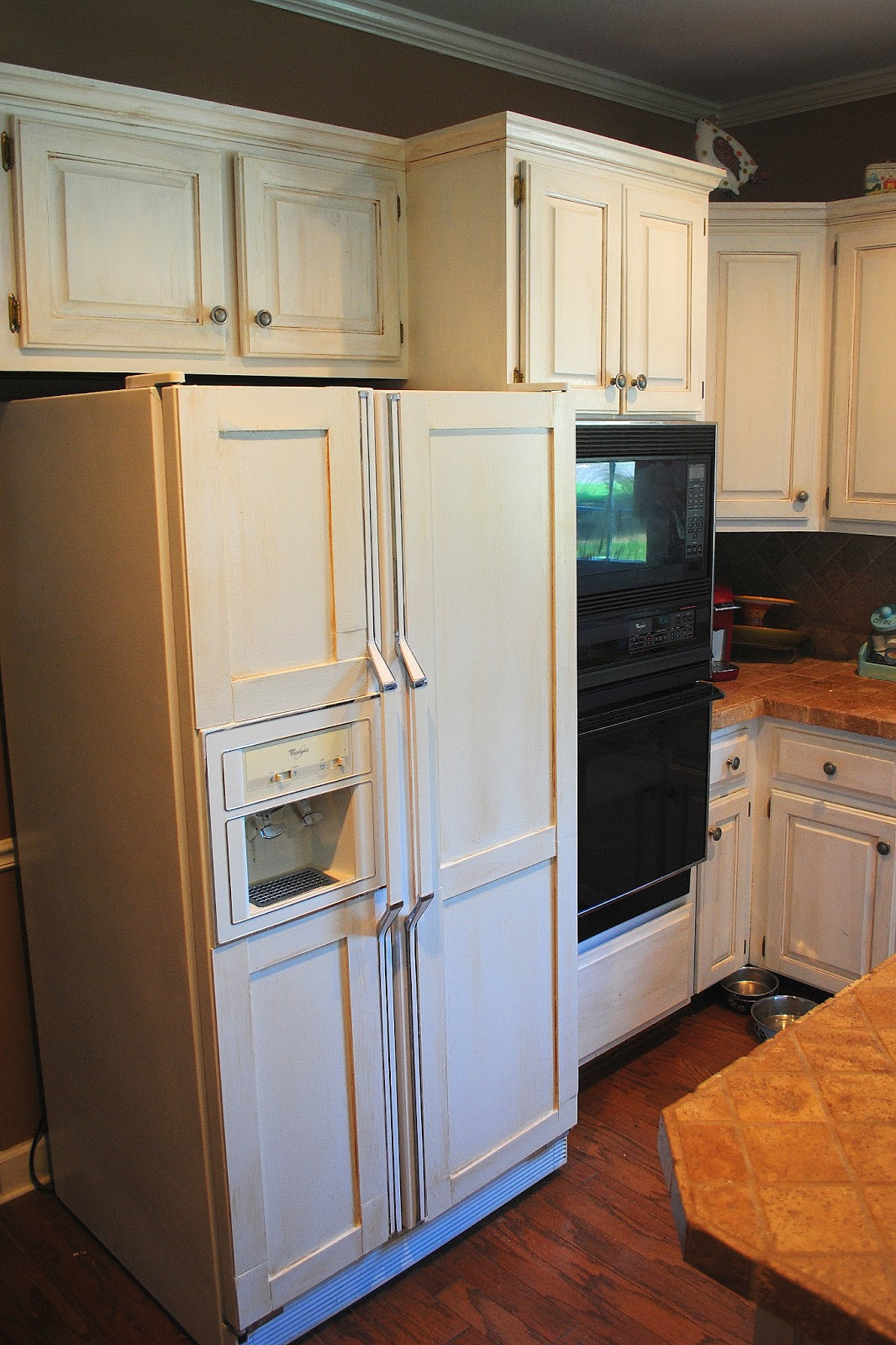 Kitchen Cabinets Around Refrigerator Amazing Grays Diy Over Fridge Wine Rack