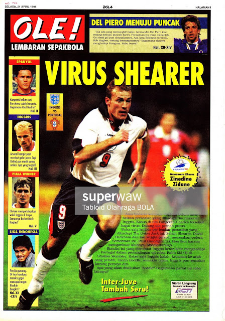 ALAN SHEARER ENGLAND VS PORTUGAL 1998