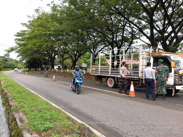 Polsek Benua Lima Kembali Gelar Operasi Yustisi di Kelurahan Taniran
