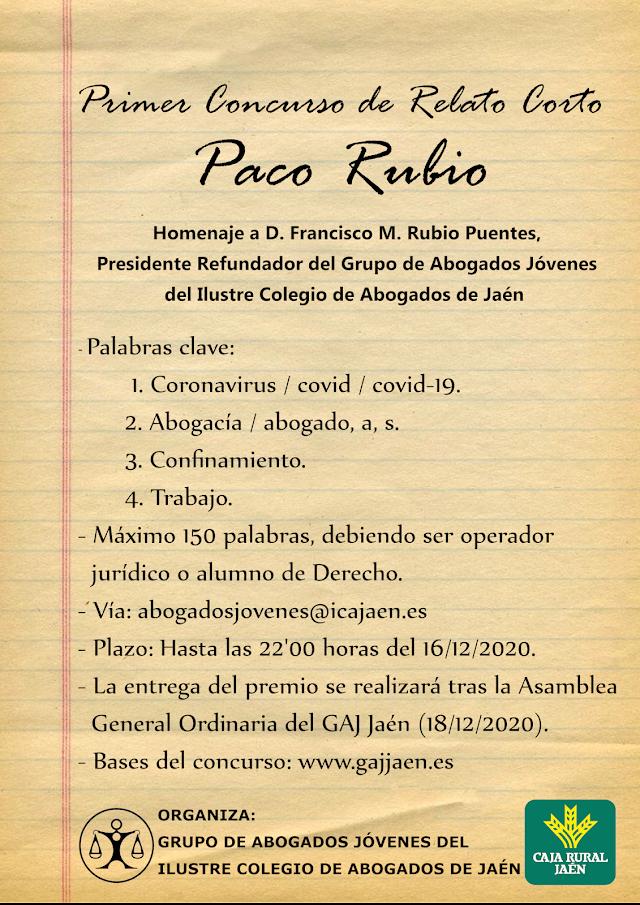 I Concurso de Relato Corto Paco Rubio