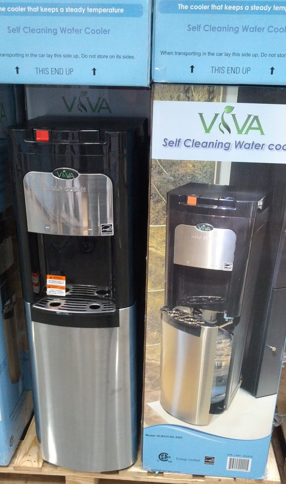 Dispense Fresh Clean Water From The Viva Self Cleaning Cooler
