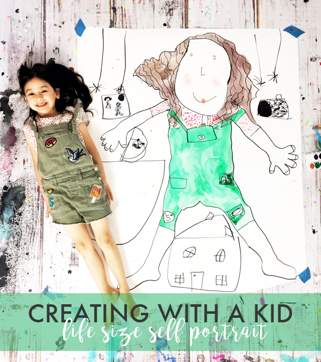 creating with a kid- life size self portrait