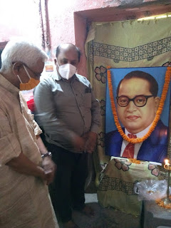 The 130th birth anniversary of Bharat Ratna Dr. Bhimrao Ambedkar was celebrated in the State Office of the Indian Labor Union.