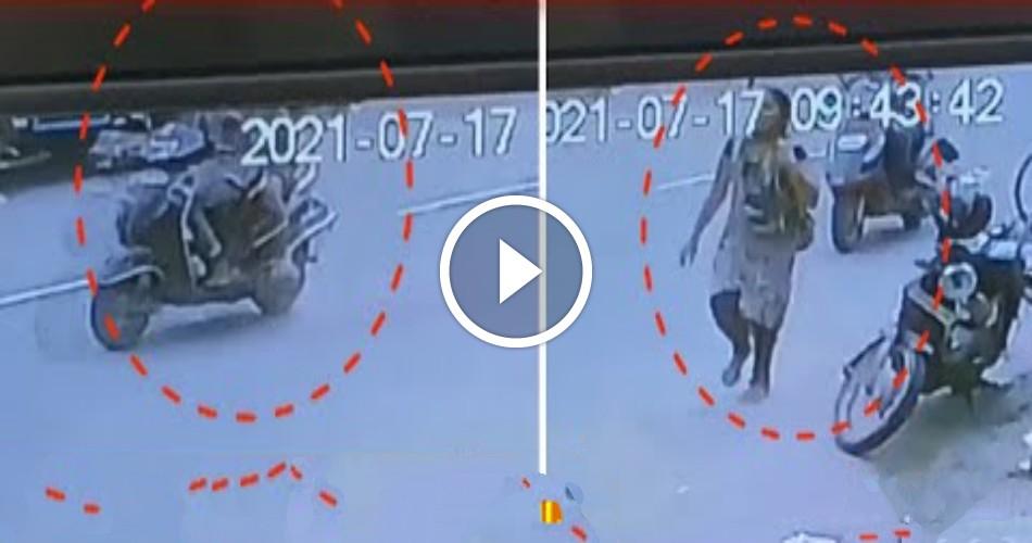 சாலையில் நடந்து சென்ற பெண்ணுக்கு நடந்த கொடூரம் .! பரபரப்பு CCTV காட்சிகள் !!