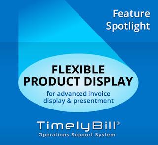 Product display on telecom bills