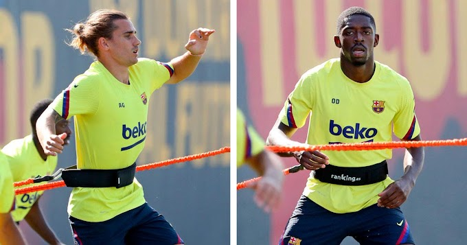 Best news ever: Dembele and Griezmann back in group training!