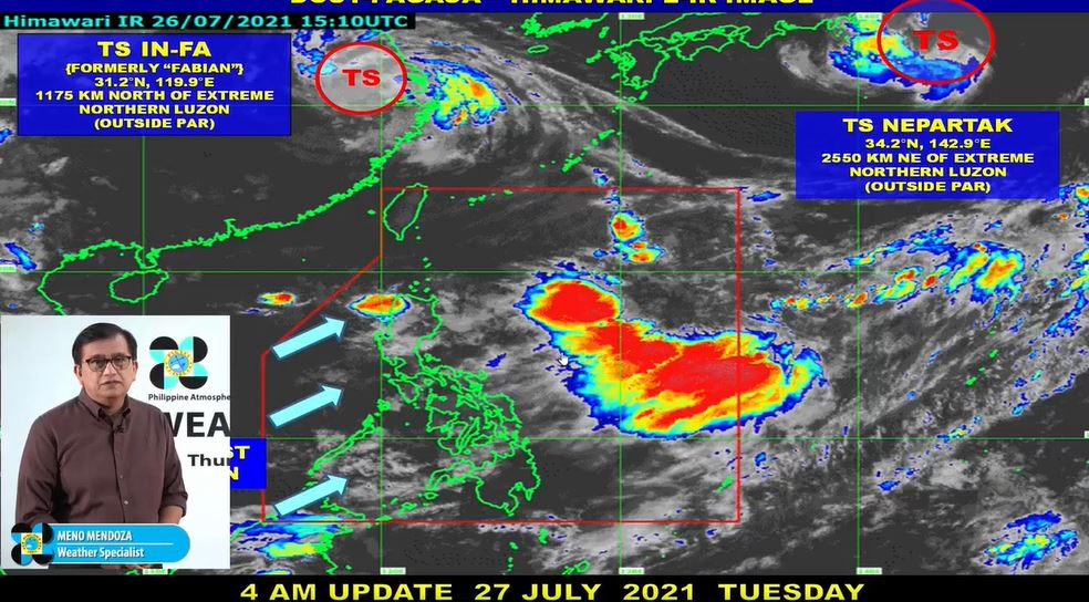 'Habagat' PAGASA weather update July 27, 2021