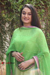 Actress Sonia Agarwal Stills in Green Anarkali Dress at Agalya Tamil Movie Launch  0009.jpg