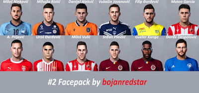 PES 2020 Facepack #2 by Bojanredstar