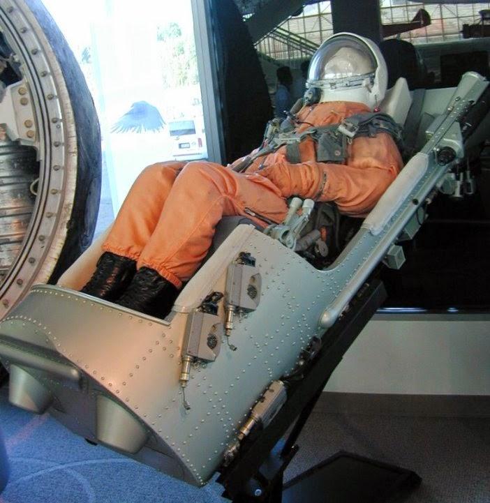 Seggiolino eiettabile delle capsule Vostok, progetto della ditta Zvezda.