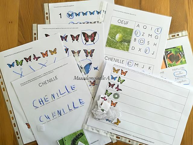 Maaademoiselle A. Shop, Livret d'activités Les papillons