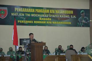 Arahan Pangdam Hasanuddin Pada Personel Rindam Agar Bijak Bermedsos