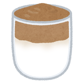 ダルゴナコーヒーのイラスト