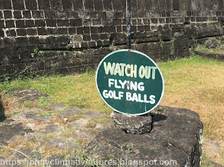 Golf Ball Warning Sign