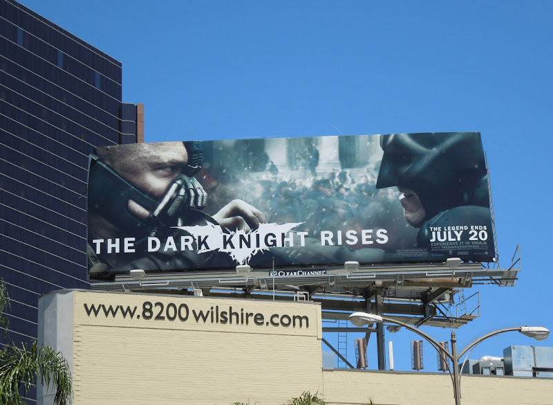Dark Knight Rises movie billboard