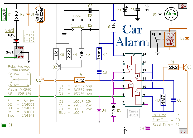 Alarms and Indicator Circuit: August 2011