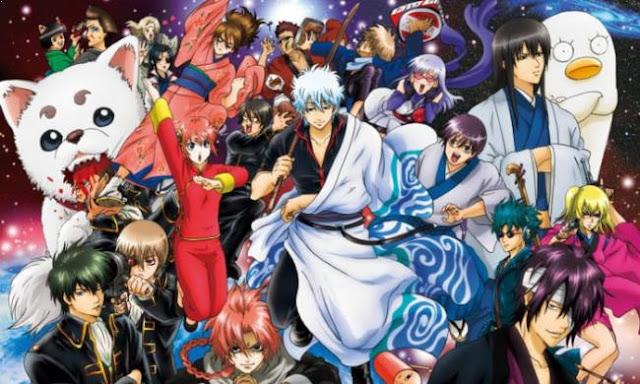 Gintama - Anime Tokoh Utama Menggunakan Pedang