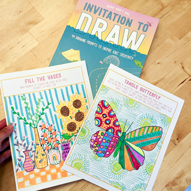 Artful Parent's Invitation to Draw Book- A Fun family doodle activity full of drawing prompts