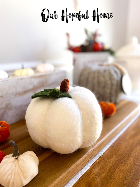 vintage white pumpkin