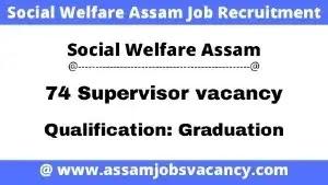 Social Welfare Assam Job Recruitment 2021