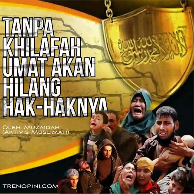Berbagai kondisi sudah dirasakan umat di berbagai negara termasuk Indonesia. Meninggalkan sejuta duka yang mendalam. Ya, tidak adanya suatu naungan yang dapat melindungi, melayani dan memfasilitasi segala kebutuhan dengan baik. Siapakah naungan tersebut? Daulah Islam, dialah yang mempunyai 3M tadi membuka peluang besar untuk kesejahteraan umat. Naungan daulah Islam 13 abad begitu lamanya menjabat sebagai pemimpin dunia, 2/3 dunia dikuasai untuk memberikan kesejahteraan bagi kehidupan umat.