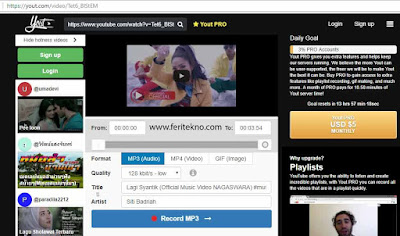 cara download lagu di youtube tanpa software tambahan 2