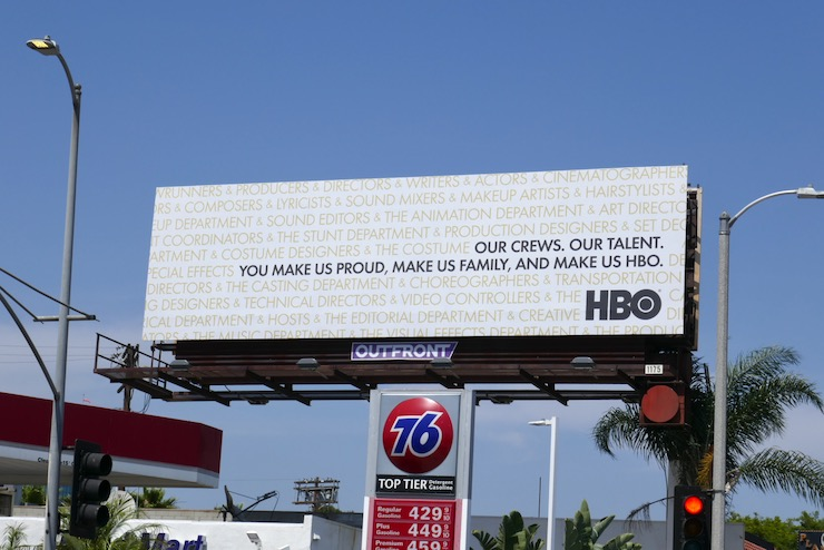 HBO crews talent family billboard