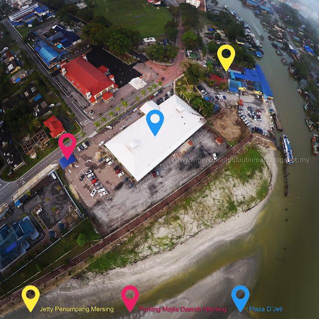 Parking Kereta Majlis Daerah Mersing & Mersing Jetty Interconnection To Pulau Tioman