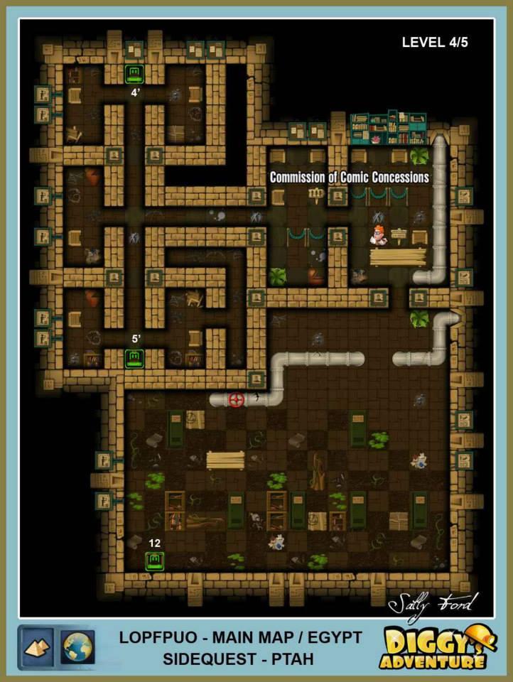 Diggy's Adventure Walkthrough: Egypt Main / Lopfpuo