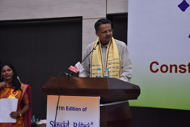 11th edition of sansad ratna awards 2021 - acceptance speech by Bhartruhari Mahtab, Sansad Maha Ratna awardee