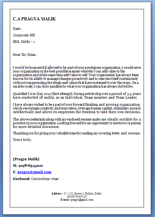 Cover letter template - Dayjob
