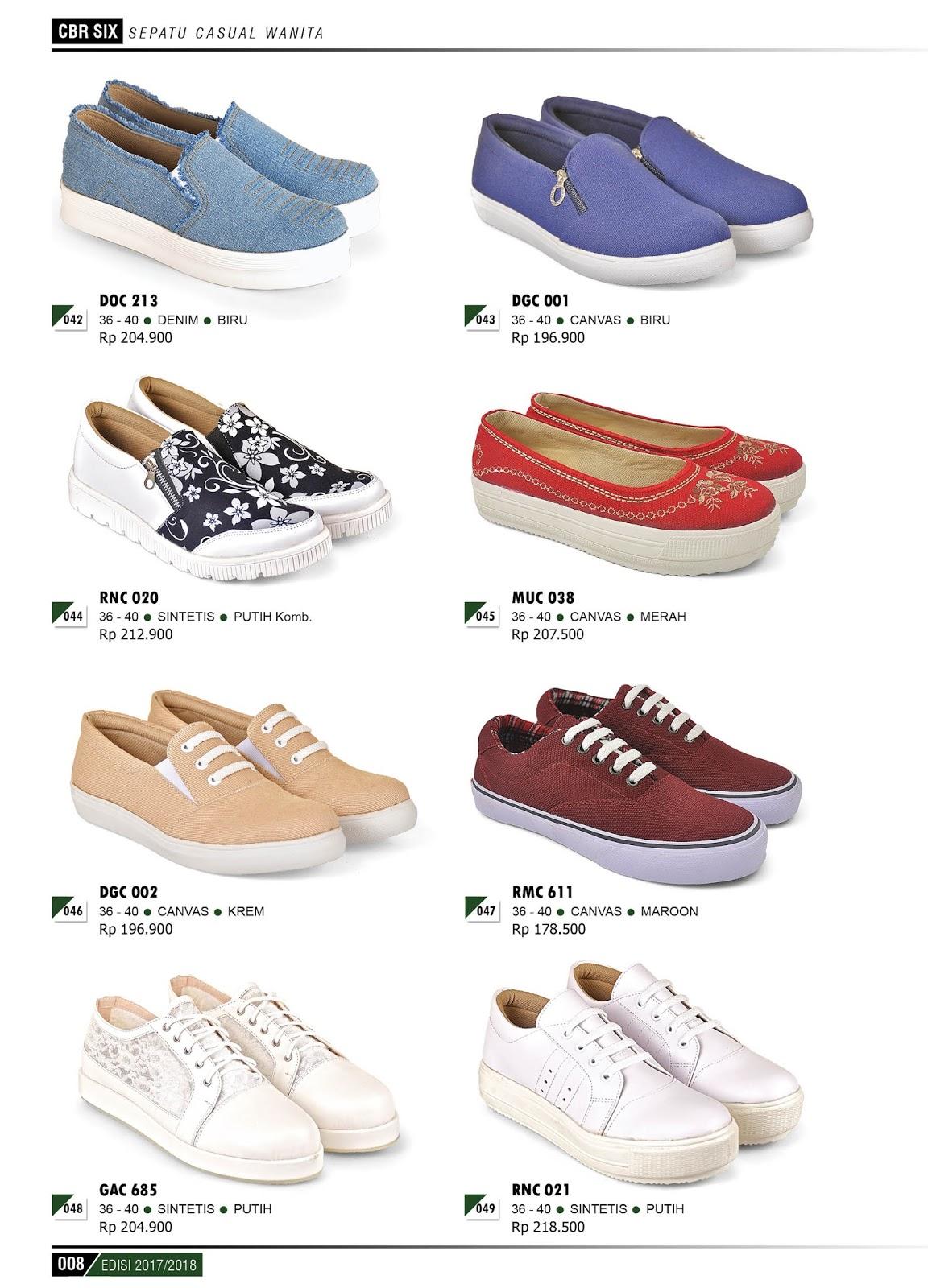 Katalog Produk Terbaru CBR 6 SIX 2017 2018 Sepatu Dan Sendal