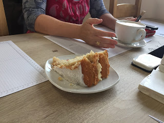 birthday cake at Coffee and Cards